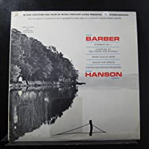 Samuel Barber, Howard Hanson, Eastman-Rochester Orchestra - Symphony No. 1 - Overture To The School Of Scandal - Medea Suite - Adagio For Strings - Lp Vinyl Record