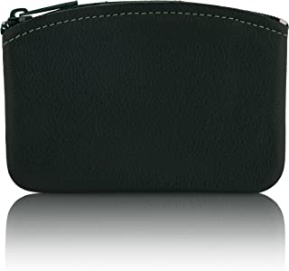 Genuine Leather U.S.A. Made Zipper Coin Purse, Coin pouch Change Holder For Men & Woman By Nabob Leather