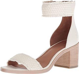 b087559e8820 FREE Shipping on eligible orders. FRYE Women s Bianca Woven Back Zip Heeled  Sandal