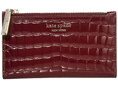 Kate Spade New York Sylvia Small Slim Bifold Wallet (Cherrywood) Bi-fold Wallet