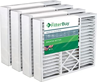 FilterBuy 20x25x5 Honeywell FC100A1037 Compatible Pleated AC Furnace Air Filters (MERV 13, AFB Platinum). Replaces Honeywell 203720, FC35A1027, FC100A1037, FC200E1037, Carrier FILXXCAR-0020. 4 Pack.