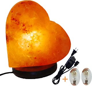 Romantic Heart Shape Salt Lamp Himalayan Hand Carved Crystal 6