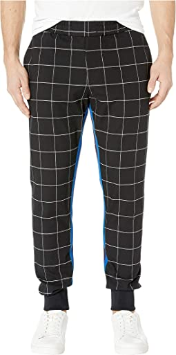 Black/White Grid Jogger