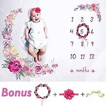 Tiny Smiles Baby Monthly Milestone Blanket Girl | Large 60
