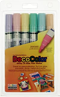 Uchida 300-6B 6-Piece Decocolor Broad Point Paint Marker Set