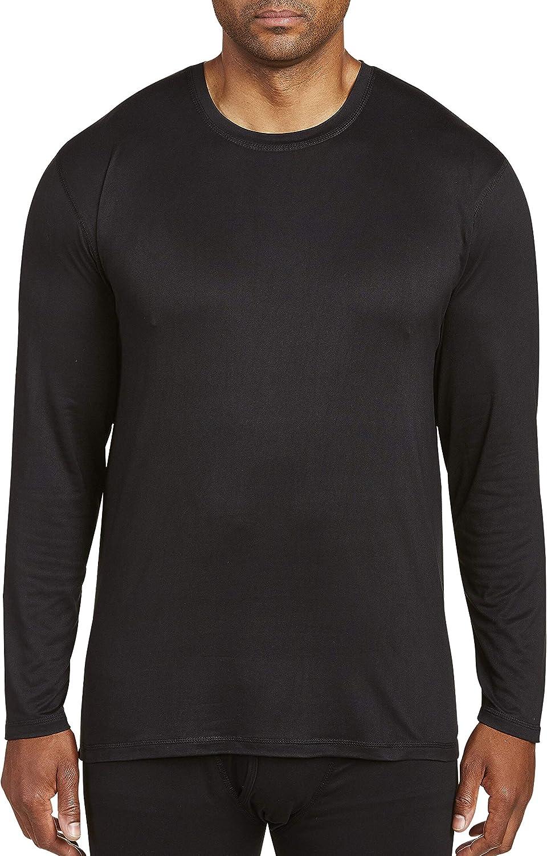 Harbor Bay by DXL Big and Tall Performance Thermal Shirt, Black, 2XLT