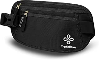 REFURBISHHOUSE Bolsa Billetera de Pasaporte con Cremallera Cinturon de Cintura de Viaje de Dinero Rinonera Seguridad Caqui