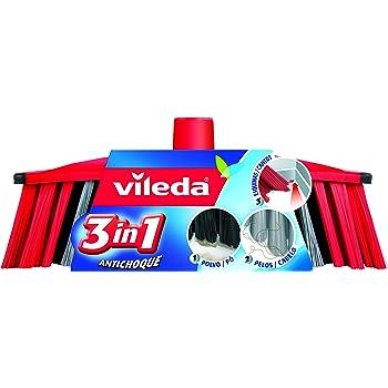 Vileda 01319088, Recambio Cepillo Antichoque 3 En 1, Pack of 2