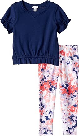 Floral Leggings Set (Toddler/Little Kids)