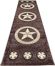 Skinz Texas Lone Star Runner Area Rug Design 78 Chocolate(2 Feet X 7 Feet .)