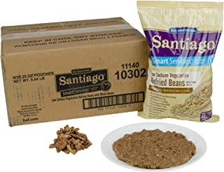 Santaigo Whole Vegetarian Refried Beans - 26.25 oz. pouch, 6 pouches per case