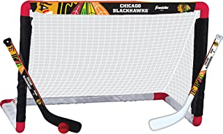 Franklin Sports NHL Team Licensed Mini Hockey Knee Hockey Goal, Ball & 2 Stick Combo Set - 28