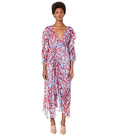 Preen by Thornton Bregazzi Cleo Dress (Red/Blue Pavement) Women