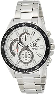 Casio Mens Quartz Watch, Chronograph Display and Stainless Steel Strap EFV-550D-7AVUDF