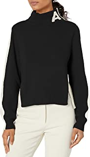 Women's Colorblocked Turtleneck Pullover with Ax Logo on Collar