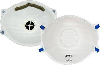 ACE 10 x Mascarilla Protectora FFP2 con Válvula, Contra Partículas, Humo, Aerosoles y