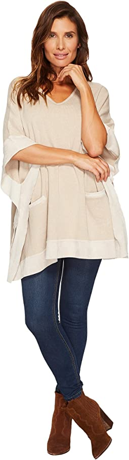 Calvin Klein - Sweater Cape with Suede Detail