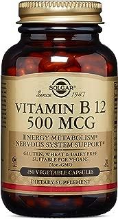 Solgar - Vitamin B12, 500 mcg, 250 Vegetable Capsules