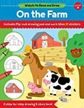 Watch Me Read and Draw: On the Farm: A step-by-step drawing & story book - Includes flip-out drawing pad and more than 30 ...