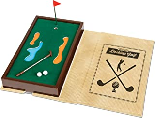 Mini Pocket Book Game - Choose From Bowling, Croquet, Golf or Pool - Fun Travel Tabletop Miniature Games Toys for Kids Children Adults Family - Challenge Outdoor Indoor Office - Birthday Party Favor