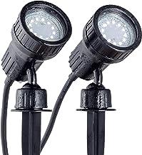 B.K.Licht LED tuinspotset van 2 incl. 2x3W GU10, grondpennen, padverlichting, gazonverlichting, tuinverlichting, tuinspit,...