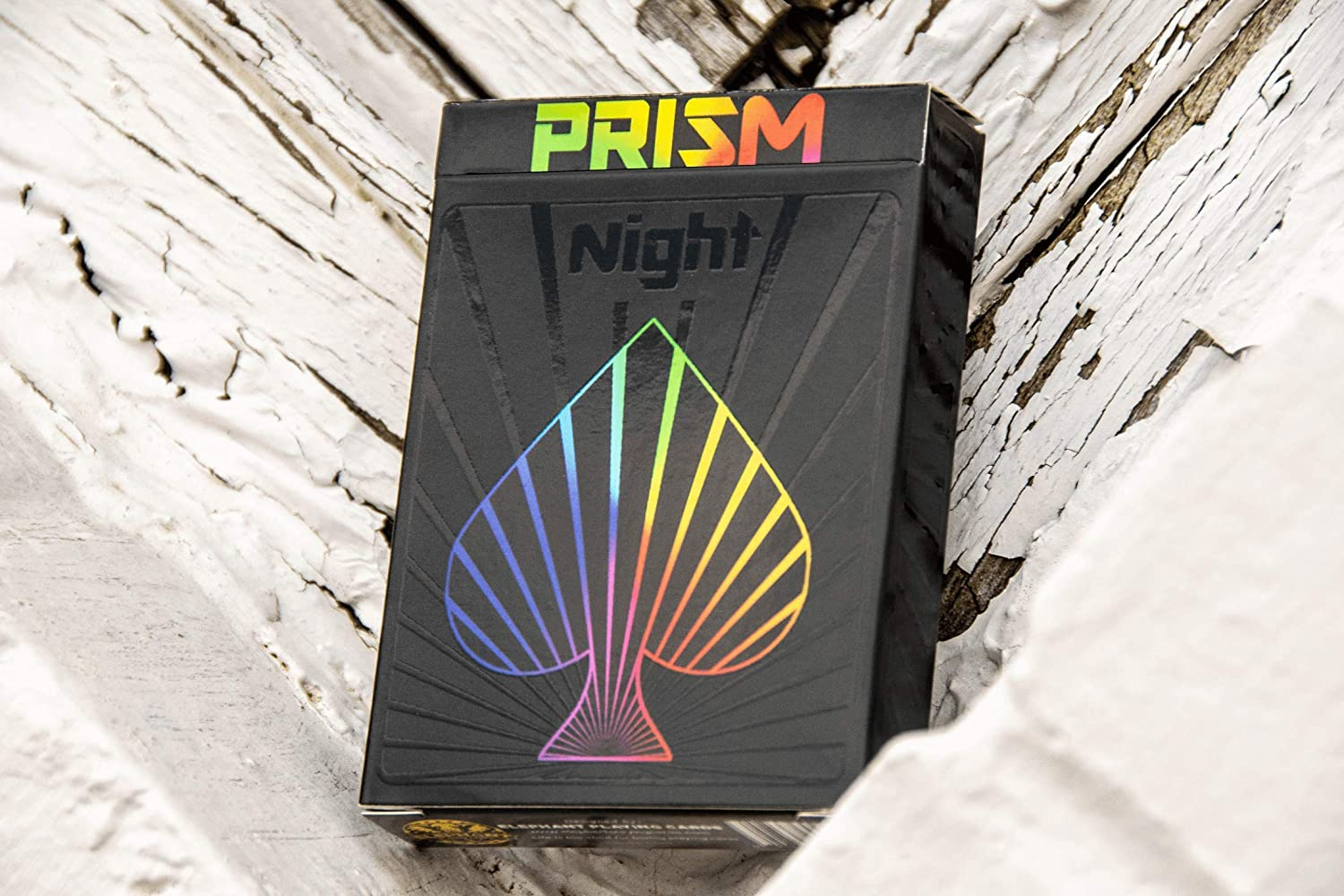 Cool Prism Gloss Ink Deck of Cards with Free Card Game eBook Unique Bright Rainbow /& Red Colors for Kids /& Adults Great Poker Cards Premium Playing Cards Black Playing Cards Games