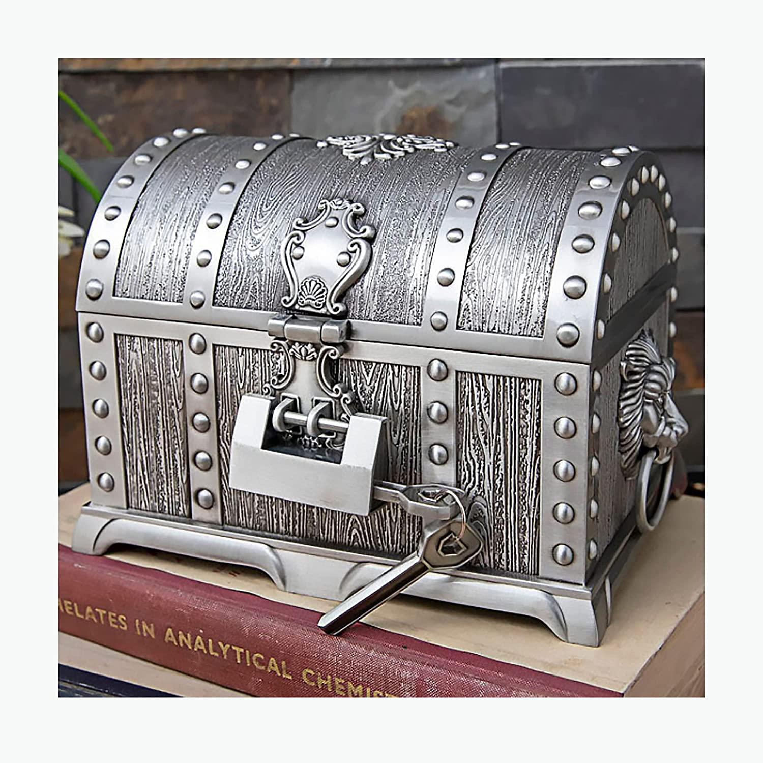 Jewelry Box Multi-Layered with Convenient Max 72% Seasonal Wrap Introduction OFF Metal Lock Decoration