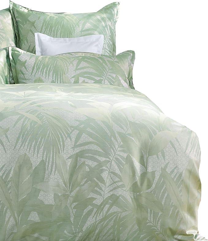 Curt Bauer Maco Brocade Damask Bed Linen Cannes Green 1 Duvet Cover 140 x  200 cm + 1 Pillowcase 70 x 90 cm: Amazon.co.uk: Kitchen & Home