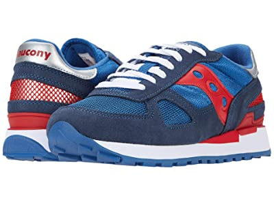 Saucony Originals Shadow Original (Denim/High Risk Red) Men