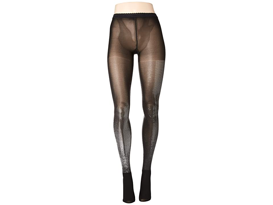 Wolford Wilma Tights (Black/Silver Metallic) Hose