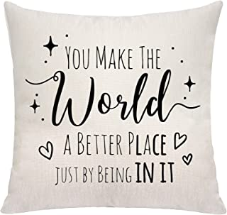 VAVSU You Make The World A Better Place Just by Being in It Throw Pillow Covers Pillowcases Sofa Bedding Cushion Covers Ac...
