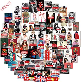 Street Fashion Brand Supreme Stickers 150 PCS,Vinyl Stickers for Motorcycle,Car,Snowboard,Bicycle,Helmet,Skateboard