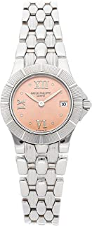 Patek Philippe Neptune Quartz (Battery) Salmon/Pink Dial Womens Watch 4880/1A (Certified Pre-Owned)
