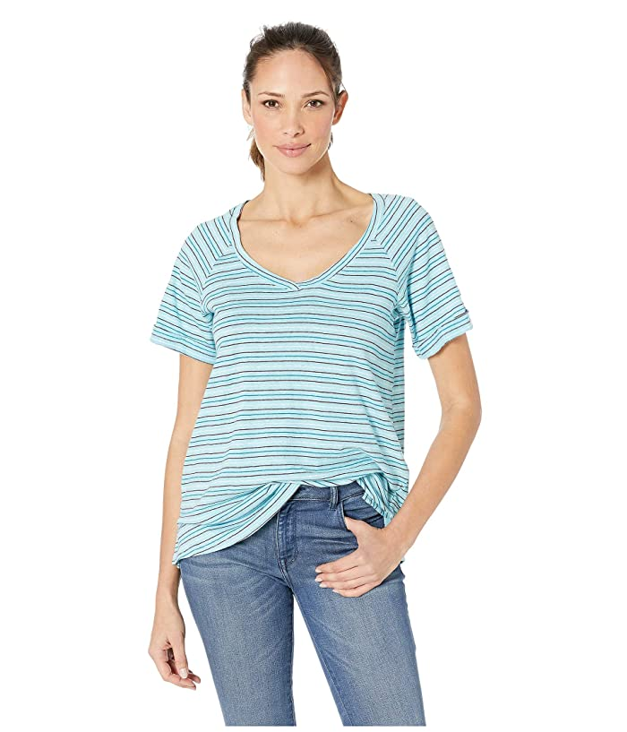 Columbia Summer Timetm T-Shirt II (Clear Blue Stripe) Women