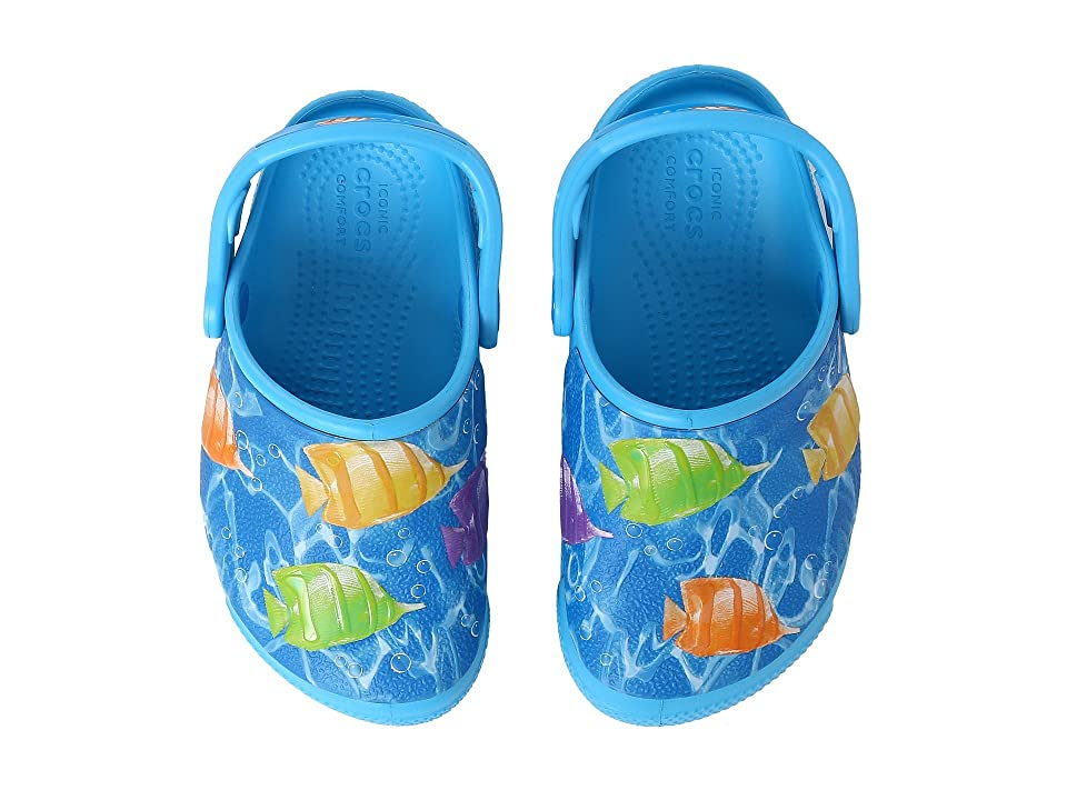 Crocs Kids CrocsFunLab Lights Fish (Toddler/Little Kid) (Multi/Electric Blue) Kid