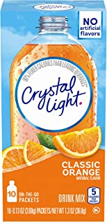 Crystal Light Classic Orange Powdered Drink Mix, 10 ct - 0.13 oz Packets, (Pack of 6)
