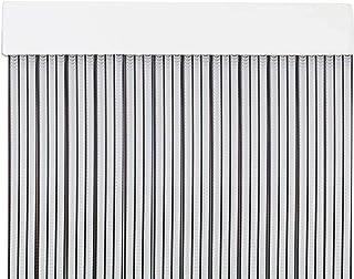 MercuryTextil P69 Cortina Puerta PVC 210x90cm Transparente+Filo Negro