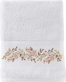 SKL Home by Saturday Knight Ltd. Misty Floral Bath Towel, White