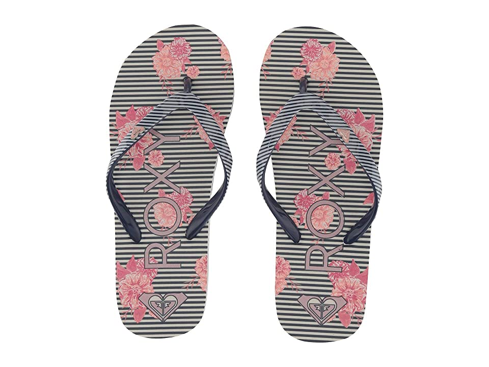 Roxy Kids Pebbles VI (Little Kid/Big Kid) (Black/White Stencil) Girls Shoes