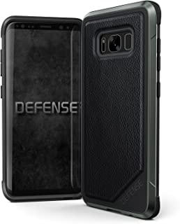 Samsung Galaxy S8 Case, X-Doria Defense Lux - Military Grade Drop Tested, Anodized Aluminum, TPU, and Polycarbonate Protective Case for Galaxy S8, [Black Leather]