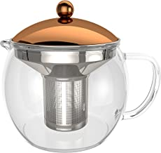 bonVIVO TEMPA Tea Infuser With Removable Stainless Steel Strainer, Tea Maker For Loose Leaf Tea or Detox Teas, Heat Resist...