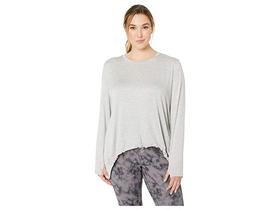 SHAPE Activewear Plus Size Opt Out Sweatshirt (Heather Grey) Women