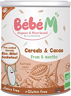 Bebe M Organic & Plant Based Baby Cereals with Cacao from 8 months, 400 gm