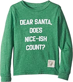 Does Nice Ish Count Long Sleeve Mocktwist Tee (Little Kids/Big Kids)