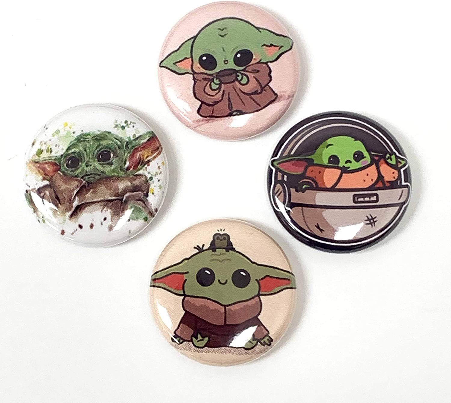 Baby Yoda Pin Button Lot List price Discount mail order - 1 Piece Size Mand inch Cute 4 Set
