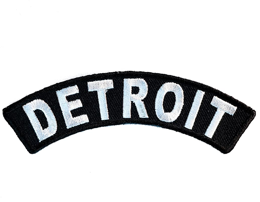 DETROIT Rocker Embroidered Patch 3 inch IVANP3609
