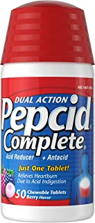 Best Pepcid Complete Acid Reducer + Antacid Chewable Tablets, Heartburn Relief, Berry, 50 ct Review