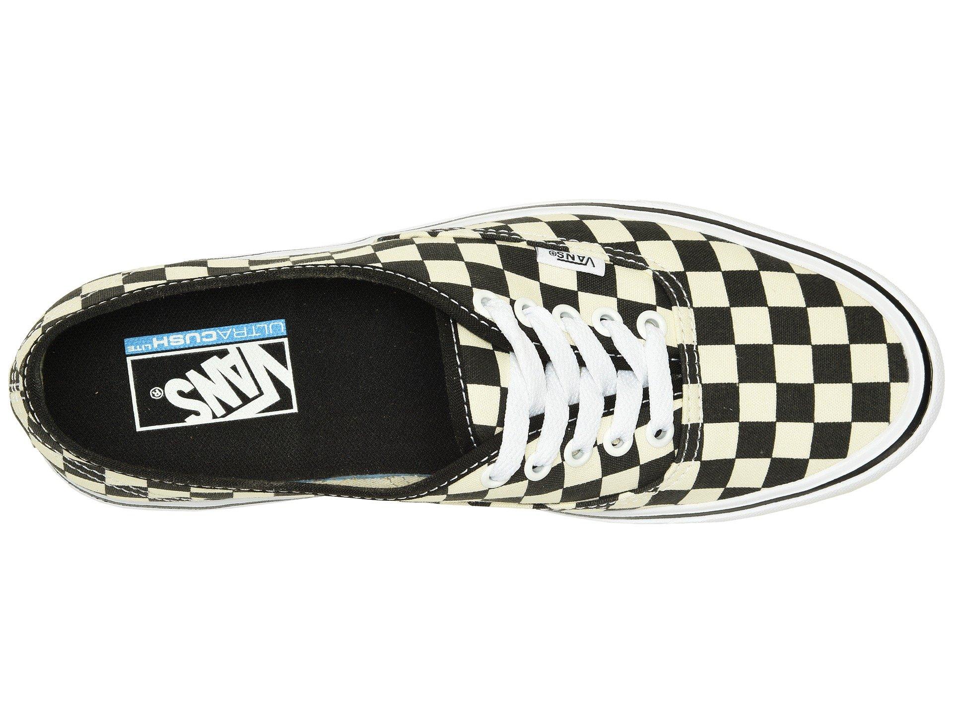 checkerboard Vans Black Authentic white Lite SEUqXU84