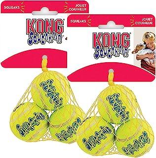 KONG Air Dog Squeakair Dog Toy Tennis Balls, Small (6 Pack)