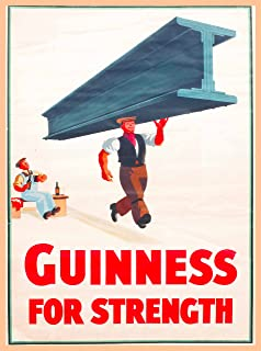 A SLICE IN TIME Guinness Beer For Strength Dublin Ireland Great Britain United Kingdom Vintage Travel Home Collectible Wall Decor Advertisement Art Poster Print. 10 x 13.5 inches.